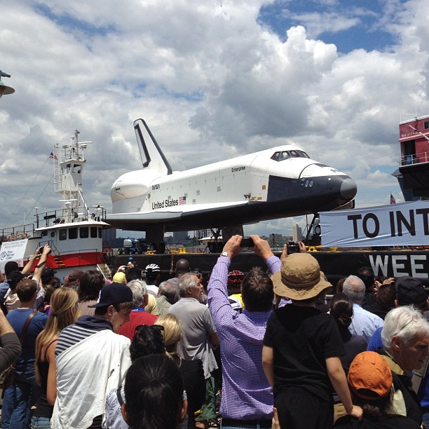 Space Shuttle Enterprise had arrived at the Intrepid #bweny