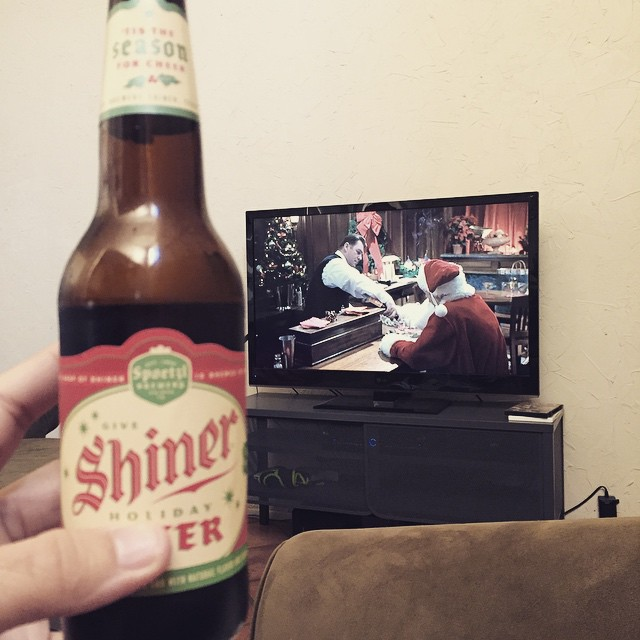 A brew and Bad Santa to kick off my Saturday.