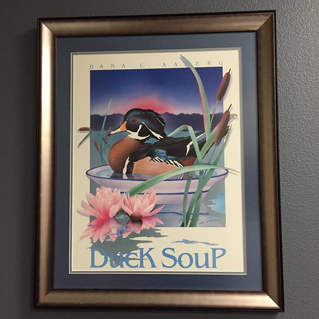 Terrible artwork in my new office, soooo bad it's good? Duck Soup AABERG