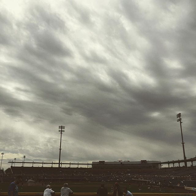 Angry sky for A's #athletics @ #Padres.